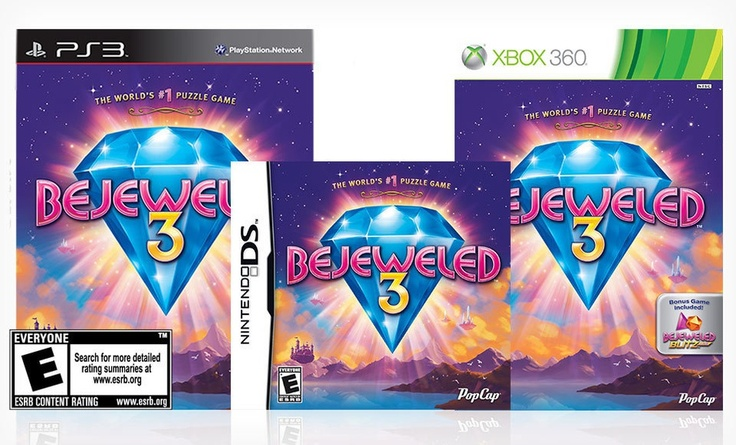 1.99 for Bejeweled 3 for Nintendo DS, PlayStation 3, or