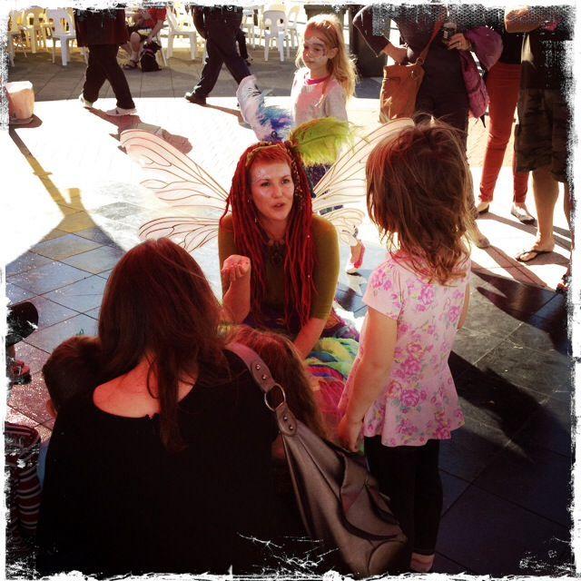Beautiful fairies entertaining the kids!