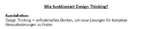 Gute Übersicht zu Design Thinking http://www.zukunftslotse.de/wp-content/uploads/2012/11/Wie-funktioniert-Design-Thinking-von-Moritz-Avenarius.pdf
