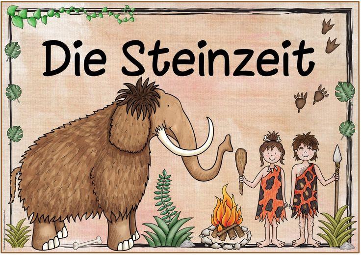 """Themenplakat """"Die Steinzeit""""   Das nächste Plakat  zum Thema """"Steinzeit"""" ist fertig. Es wird das letzte vor der Blogpause sein. Die nächste..."""