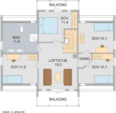Et nytt hjem: bra planløsning 2.etg.