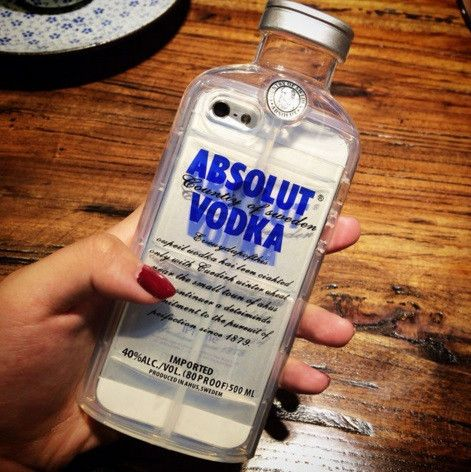 Cell Phone Cases - Absolut Vodka Bottle Clear Cell Phone Cases for iPhone 5/5s 6  6 plus - Welcome to the Cell Phone Cases Store, where you'll find great prices on a wide range of different cases for your cell phone (IPhone - Samsung)