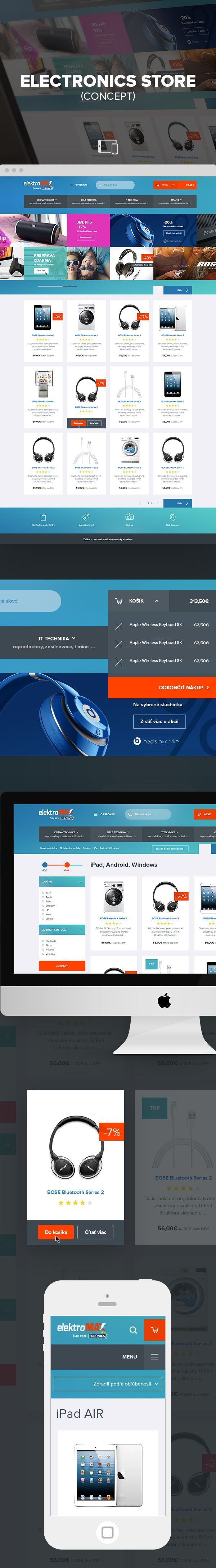 Concept of e commerce  electronic store
