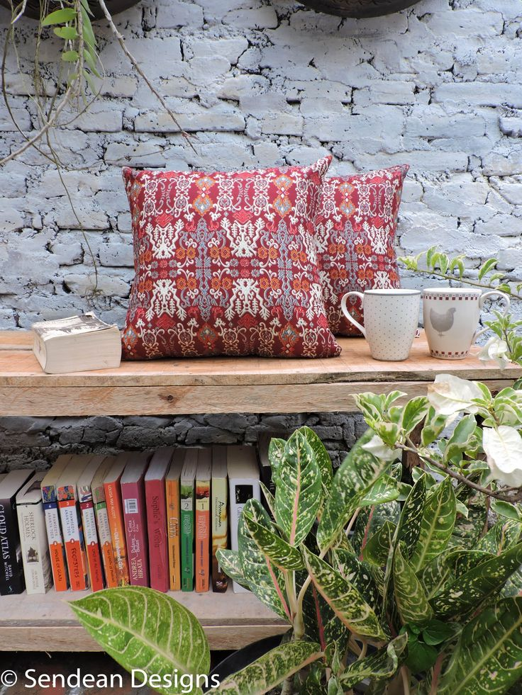 Batik cushion with ethnic printing. Originally from Indonesia. Red is always rad. Like our facebook fanpage Sendean Designs or follow us at instagram @sendeandesigns. (Product code: RAB2)
