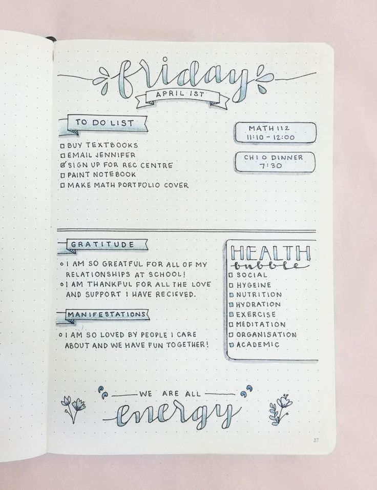 Studyspiration — chic-studies:   My daily bullet journal layout for...