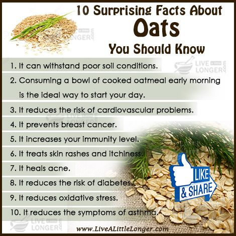 Amazing Facts Of Oats #nature #health For More: www.livealittlelonger.com