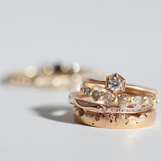 For the socially conscious bride-to-be an ethically sourced engagement ring is a must. These 14 jewelry companies source recycled or fair trade gold, and vintage and conflict-free diamonds and jewels to create their engagement rings. | Check out all the lovely brands!