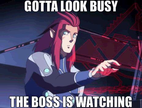 quando o chefe está perto ... hehehehehe