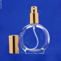 1.7 oz Watch Shaped Glass Bottle with  Spray Pump