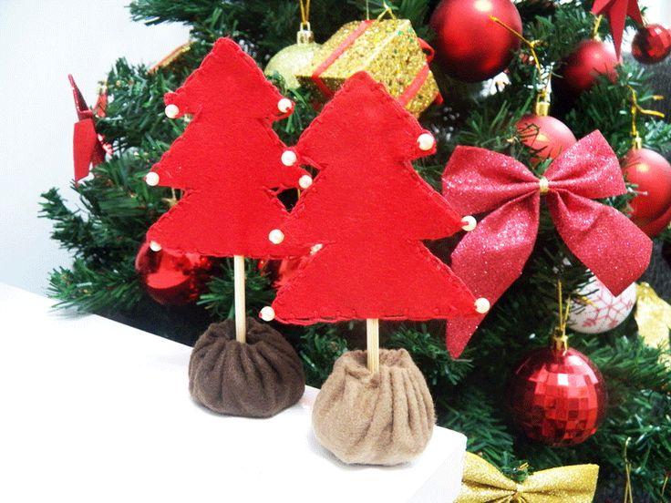 Enfeite para a mesa de natal - Blog Dona Engenhosa