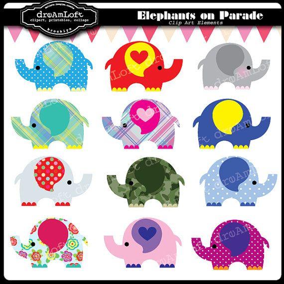 elephant digital clipart $4