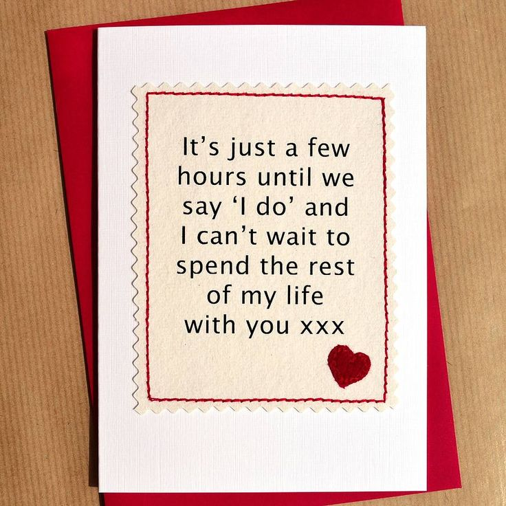 wedding day card for husband or wife