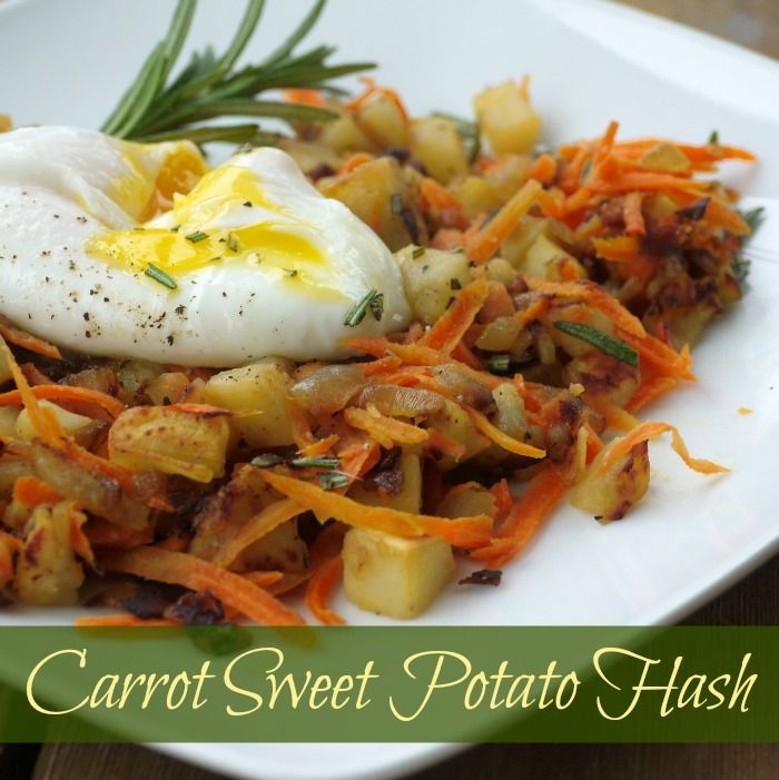 Carrot Sweet Potato Hash via @rosewayrenee