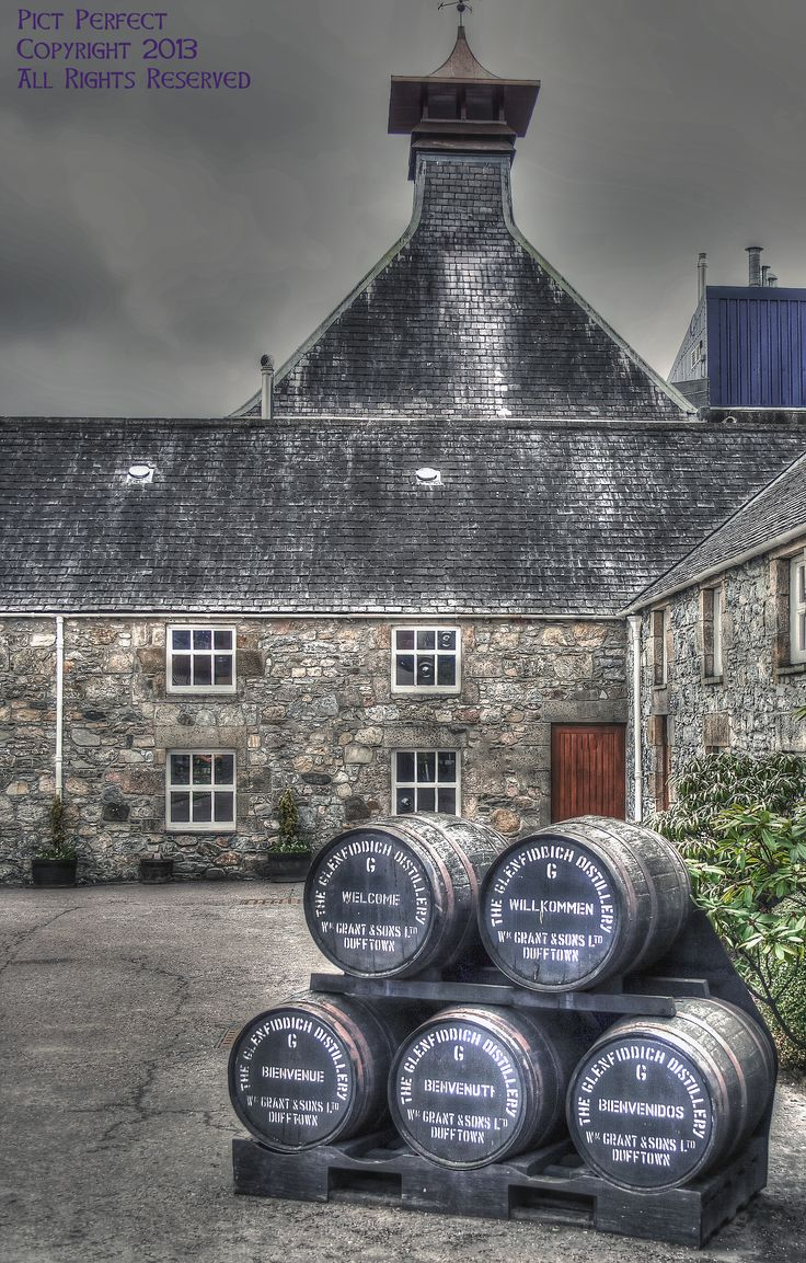 Glenfiddich Distillery, Dufftown - The home of the worlds most awarded single malt. This visitors centre has a great range of tours and experiences, Scotland