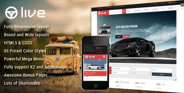 ThemeForest - SJ Live - Responsive Classified Joomla Template  Free Download