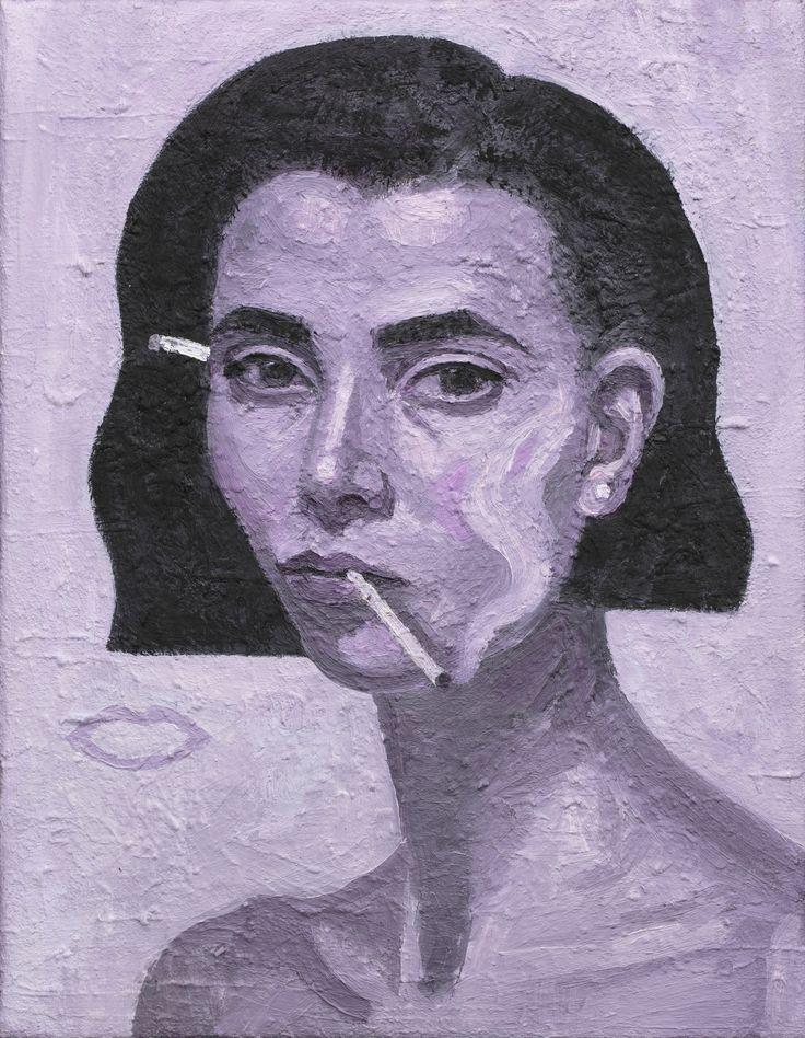 Rose Burn Self-portrait oil on linen 46cm x 36cm  2016 Archibald Finalist