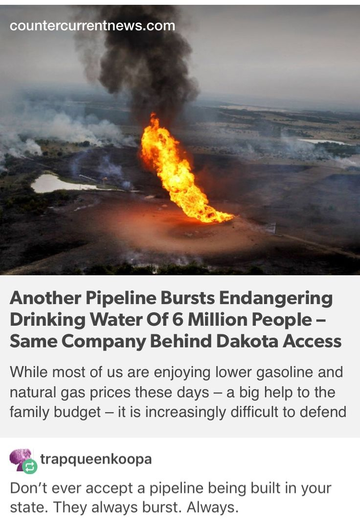 Another Pipeline Bursts Endangering Drinking Water Of 6 Million People – Same Company Behind Dakota Access Pipeline