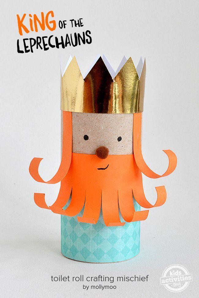 Make this fun toilet roll Leprechaun king for St. Patrick's Day!