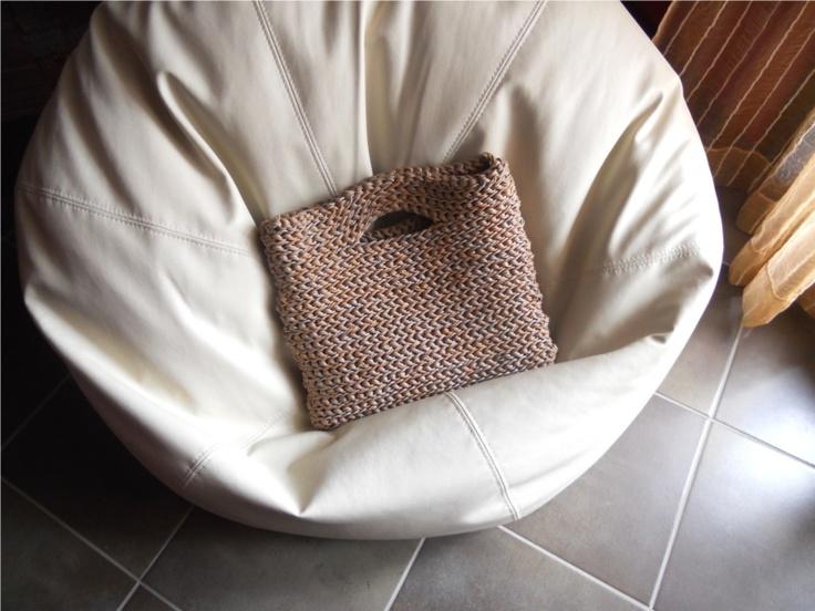 my last #handmade #bag, using waxed cotton cord