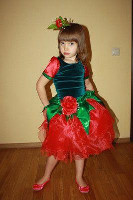 Новогодний карнавальный костюм Роза  Троянда  Цветочек  Цветок  Кв точка, купить всего за 150 грн. от Ксения в городе Киев. Фото, отзывы, телефон