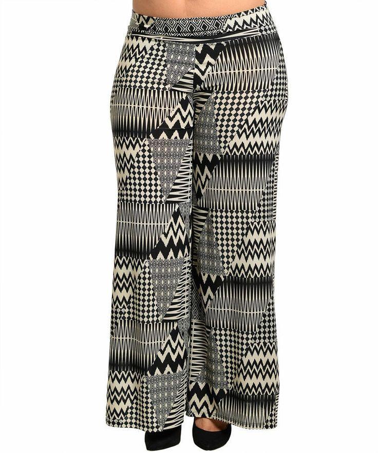 NEW Fashion BLACK/BEIGE Aztec PANTS Size 2XL or 3XL SUMMER SALE BID .01 Cent
