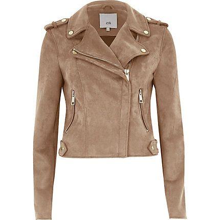 Dark beige biker jacket £60.00