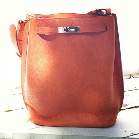 Hermes So Kelly bag in tan/orange