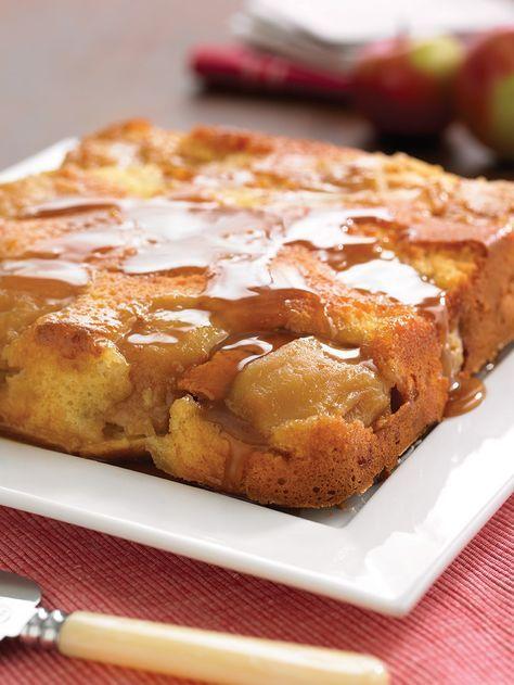 Gâteau renversé vanillé aux pommes - Pommes Qualité Québec, Recette