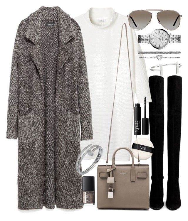 """""""Untitled #19346"""" by florencia95 ❤ liked on Polyvore featuring Stuart Weitzman, NARS Cosmetics, Monki, Zara, Yves Saint Laurent, Tom Ford, FOSSIL, Cartier and French Connection"""