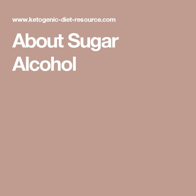 About Sugar Alcohol