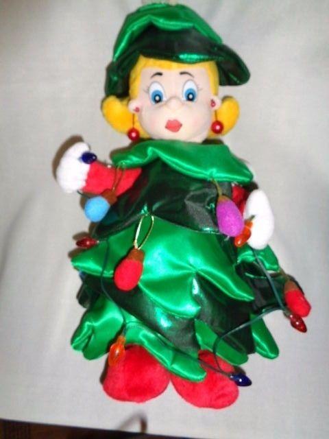1c867aeed0d5b SINGING DANCING ANIMATED MUSICAL LADY PLUSH CHRISTMAS TREE 16 ...