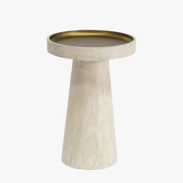 Orson White Wood Side Table