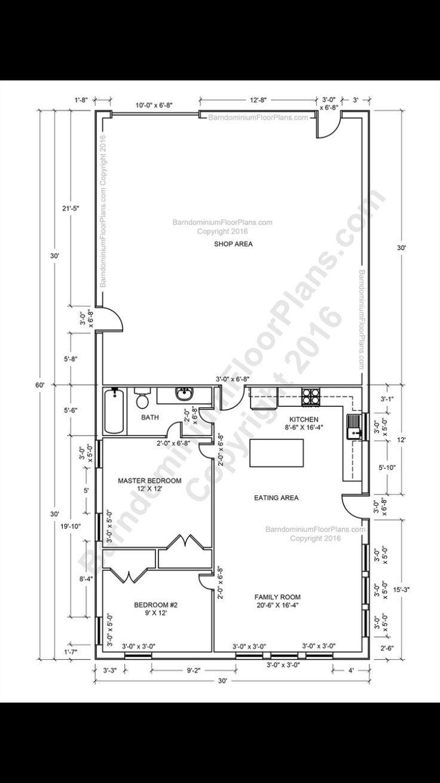 Pin by Emily Redman on My Home Barndominium floor plans