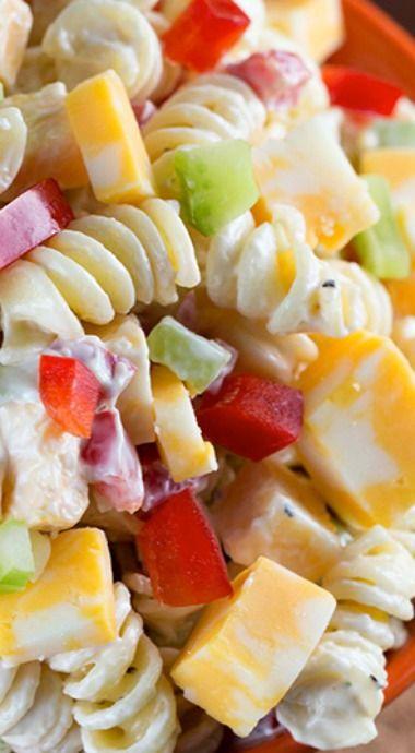 Creamy Cheddar Pasta Salad
