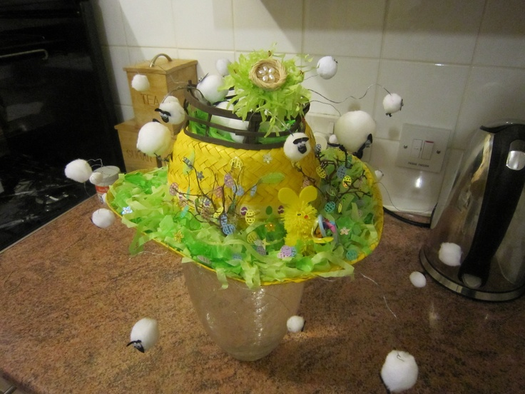 My daughter created this fantastic Easter bonnet for her sons school Easter bonnet parade.