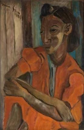 Irma Stern, PORTRAIT OF A WOMAN IN ORANGE