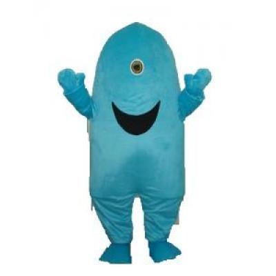 Costume de Mascotte de requin borgne