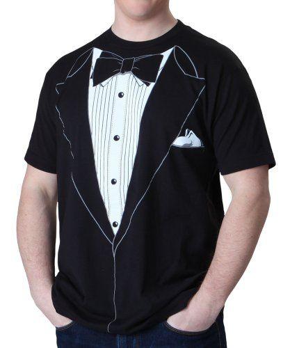 Impact Black Tuxedo T-shirt, Black, L... $8.09