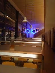 Lighting Circle - Library of Polytechnic University of Alcoy - Signed by the Glass Art creative Josep SanJuan - Tech.: Glass Fusing. It includes a Retro-LED lighting system.