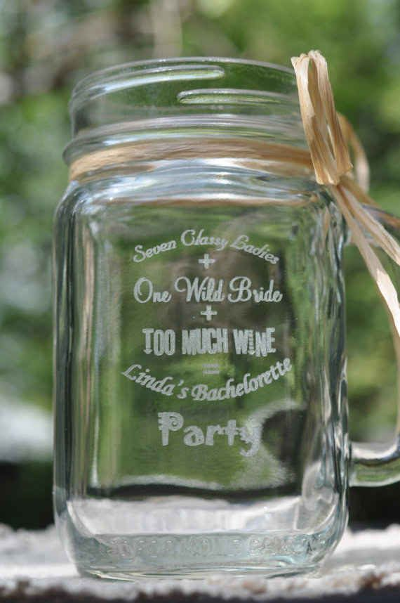 Or if you're looking for something slightly more permanent, opt for an engraved mason jar!