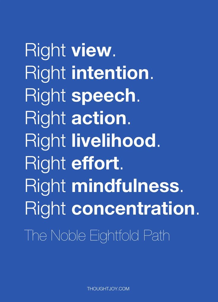 eight fold path Noble eightfold path is one of the  the first division of three-fold  these eight factors of middle path was taught by buddha so that the people.