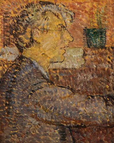 Vanessa Bell - Portrait of Roger Fry, 1912 Oil on panel, 29.3 x 23.6 cm