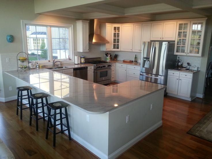 Delightful Kitchen With Island And Peninsula #3   G Shaped Kitchen Ideas
