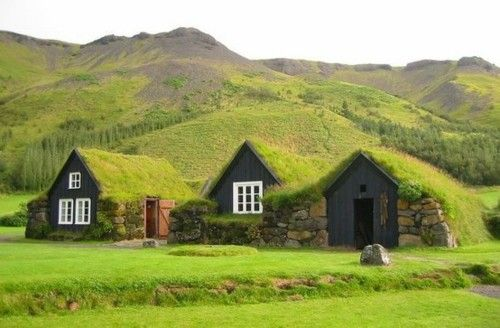 Tiny Turf Houses! Just you and a couple of close friends or family members....perfection!