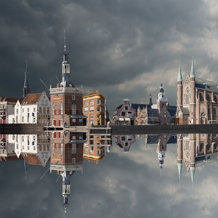 by Jan Siebring Alkmaar (The Netherlands) - This photo is one of the 12 photos of towns in the Dutch province Noord-Holland that I've edited in a different way.