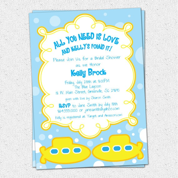 73 best images about Beatles Themed PartyWedding Ideas on – Beatles Party Invitations