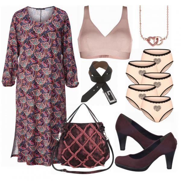 Große Größen Outfits: Ghappy Dress bei FrauenOutfits.de #mode #damenmode #fra…