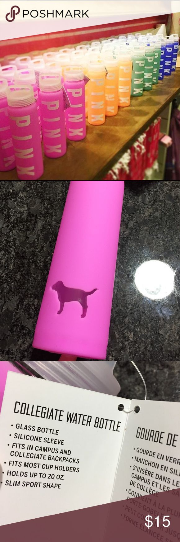Victoria Secret PINK Water Bottle Brand new. Never used. 20oz PINK Victoria's Secret Accessories