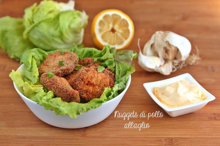 Nuggets di pollo all'aglio con e senza bimby