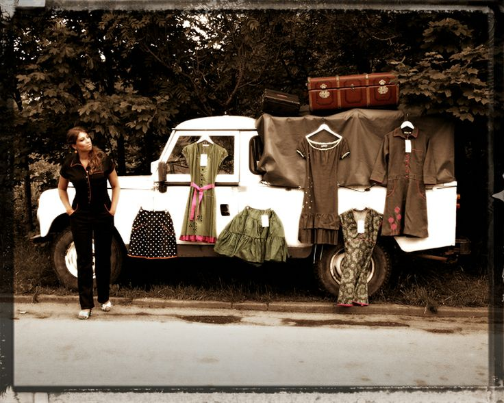 "Photoserie ""On the road"" Ecoutures designer Johanne is ""on the road""in our Trine-jumpsuit. See the photo series her:"